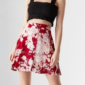NEW Rollas x UO Flounce button down floral skirt